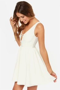 LULUS Exclusive Let's Run Away Ivory Dress at Lulus.com!