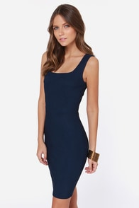 LULUS Exclusive Body Language Navy Blue Bodycon Dress at Lulus.com!