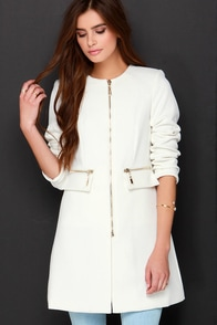 From Paris, With Love Ivory Coat at Lulus.com!