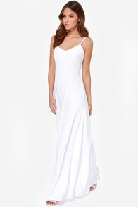BB Dakota Loulla White Maxi Dress at Lulus.com!