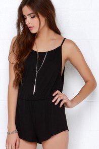 Kickflip Black Romper at Lulus.com!