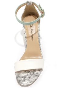 CL by Laundry Janella Lizard White and Black Dress Sandals at Lulus.com!