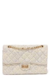 Jacquard to Say Grey Quilted Purse at Lulus.com!