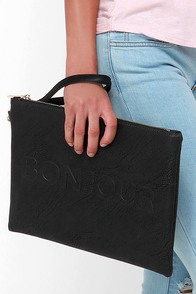 Hello Goodbye Black Clutch at Lulus.com!