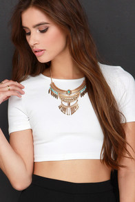 Short Stuff Ivory Crop Top at Lulus.com!