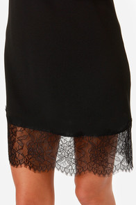 LULUS Exclusive Slink Again Black Lace Dress at Lulus.com!