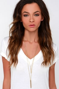 Ultimate Prize Gold Layered Necklace at Lulus.com!