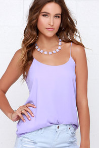 Moon Over My Cami Lavender Tank Top at Lulus.com!