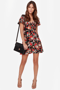LULUS Exclusive Grow On Black Floral Print Dress at Lulus.com!