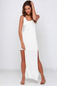 Divvy Up Ivory Maxi Dress at Lulus.com!