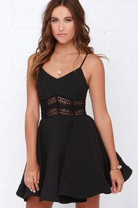 It's Electric Black Lace Dress at Lulus.com!