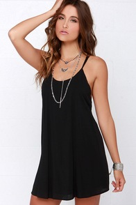 Sol Seeker Black Lace Dress at Lulus.com!