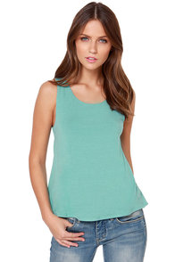 LULUS Exclusive Bows in a Row Seafoam Tank Top at Lulus.com!