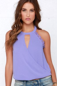 Poetic Performance Purple Lace Top at Lulus.com!