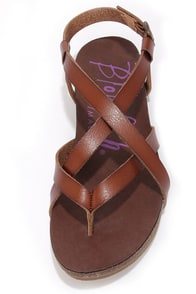 Blowfish Granola Whiskey Brown Sandals at Lulus.com!