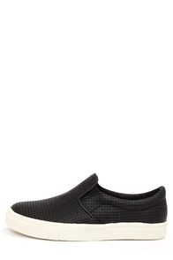 Steve Madden Perfie Black Slip-On Perforated Sneakers at Lulus.com!