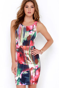 Painter's Muse Fuchsia Print Dress at Lulus.com!