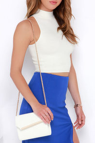 Uptown Chic White Clutch at Lulus.com!