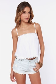 O'Neill Honey Ivory Crop Top at Lulus.com!