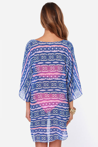 O'Neill Bianca Blue Print Cover-Up at Lulus.com!