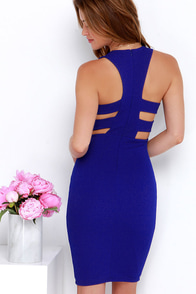 As You Are Royal Blue Bodycon Midi Dress at Lulus.com!