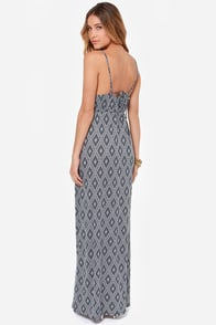 O'Neill Jenna Ink Blue Print Maxi Dress at Lulus.com!