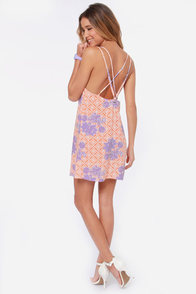 O'Neill Joey Purple and Orange Print Dress at Lulus.com!