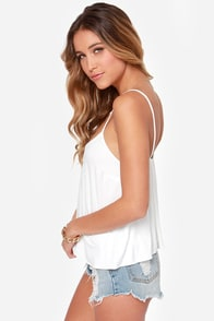 Lucy Love Solid Capri Knit Ivory Tank Top at Lulus.com!