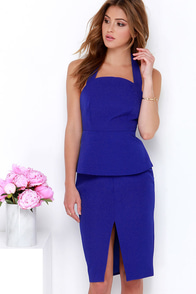 Cameo These Days Royal Blue Midi Dress at Lulus.com!