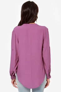 Call It Magic Purple Top at Lulus.com!