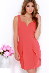 Love for Life Coral Red Dress at Lulus.com!