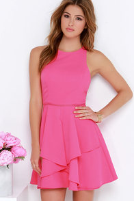 Picture Perfection Hot Pink Dress at Lulus.com!