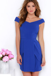 Flower Garden Royal Blue Dress at Lulus.com!