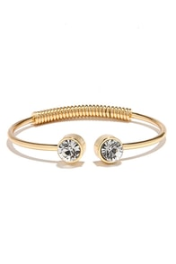 All I Wanna Do Gold Rhinestone Bracelet at Lulus.com!