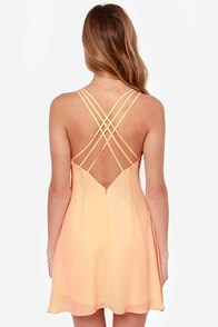 Island in the Sun Peach Dress at Lulus.com!
