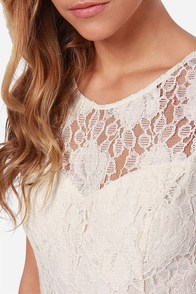 Antique Technique Cream Lace Dress at Lulus.com!