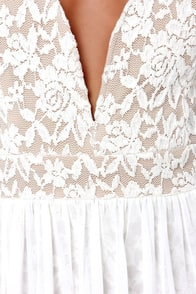 Make Way for Wonderful Ivory Lace Maxi Dress at Lulus.com!