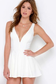 I Feel Good Ivory Skort Dress at Lulus.com!
