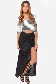 Let's Twist Again Black Maxi Skirt at Lulus.com!