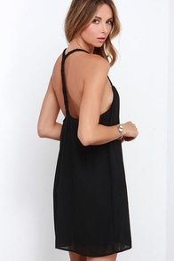 First Rate Plait Black Dress at Lulus.com!