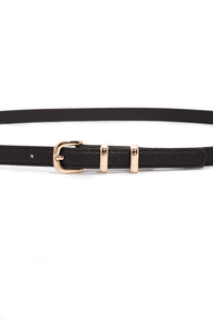 Hold Up Black Skinny Belt at Lulus.com!