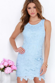 Fluent in Anglaise Light Blue Lace Dress at Lulus.com!