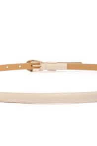 In a Bind Beige Skinny Belt at Lulus.com!