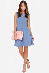 Darling Keeley Periwinkle Blue Dress at Lulus.com!