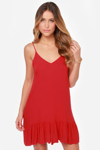 Let It Flow Red Dress at Lulus.com!