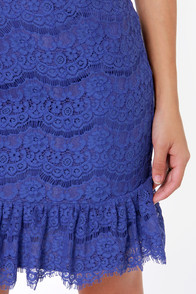 Darling Isabella Royal Blue Lace Skirt at Lulus.com!