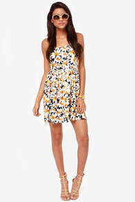 LULUS Exclusive Lacksa-Daisy Navy Blue Floral Print Dress at Lulus.com!