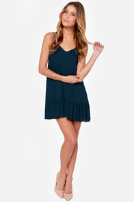 Let It Flow Navy Blue Dress at Lulus.com!