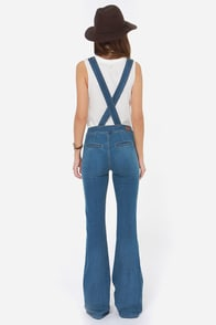 Dittos Delilah Flared Overalls at Lulus.com!