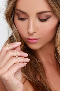 Matte and Greet Gold and Silver Knuckle Ring Set at Lulus.com!